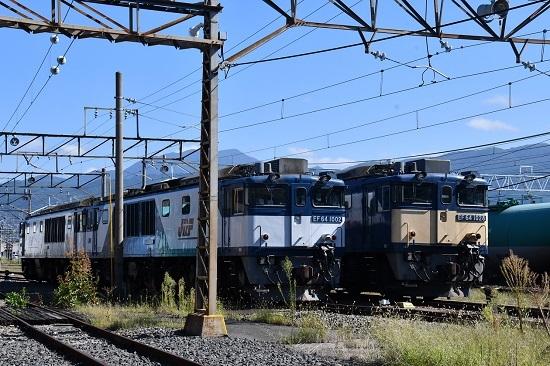 2019年9月15日撮影 EF64-1002号機と1028号機