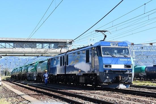 2019年9月14日撮影 南松本駅横に待機中のEH200-20号機