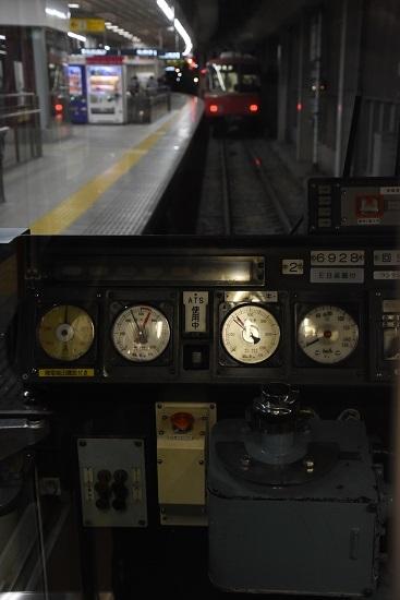 2019年12月28日乗車 名鉄尾西線 6800系運転席