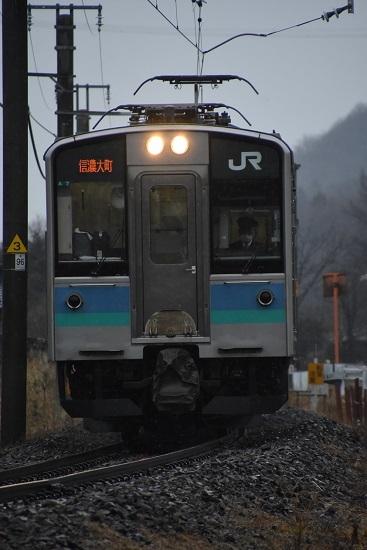 2020年3月8日撮影 辰野線 155M E127系 信濃大町行