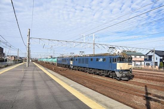 2019年12月29日撮影 清洲駅にて西線貨物5875レ EF64 原色重連