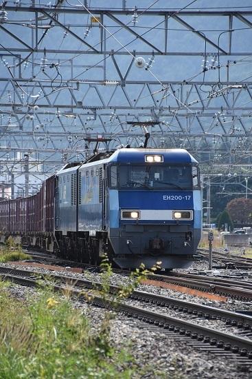 2019年9月30日 東線貨物2083レ EH200-17号機 正面から
