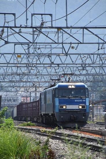 2019年8月1日東線貨物2083レ 塩尻駅3番線通過