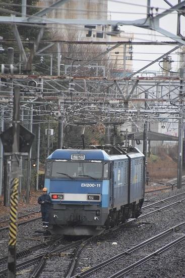 2019年12月30日撮影 東線貨物2080レ EH200-11号機 機回し