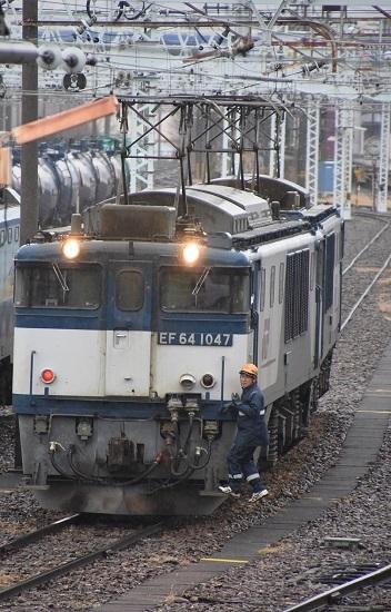 2019年12月30日撮影 南松本にて西線貨物8084レ 機回し開始