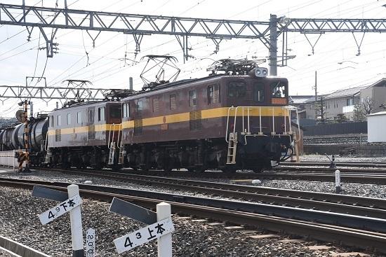 2019年11月16日撮影 藤原駅にセメントタキ返空到着