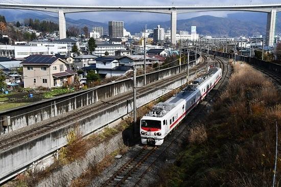 2019年11月27日撮影 試9435M E491系 East-iE 岡谷跨線橋