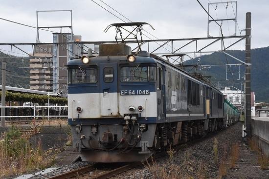 2019年10月26日撮影 西線貨物8883レ 塩尻駅発車