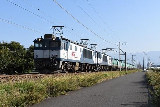 2019年10月2日撮影 西線貨物6088レ EF64-1015+1004号機