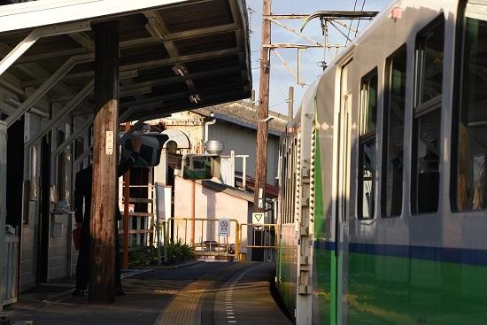 2019年11月16日撮影 四日市あすなろ鉄道 内部駅にて 発車合図