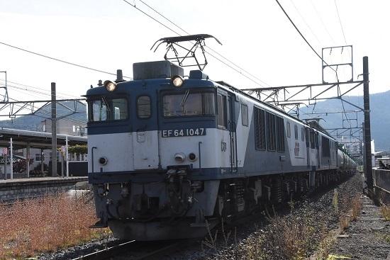 2019年10月27日撮影 西線貨物8883レ 塩尻駅発車
