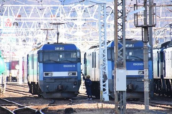 2019年12月31日撮影 南松本にて東線貨物2080レ 無線機渡し