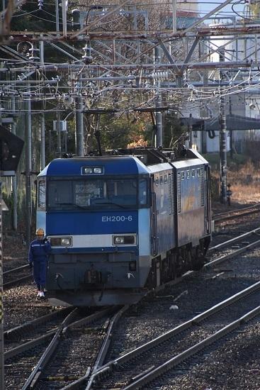 2019年12月31日撮影 南松本にてEH200-6号機機回し