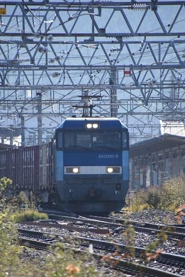 2019年10月28日撮影 東線貨物2083レ EH200-9号機