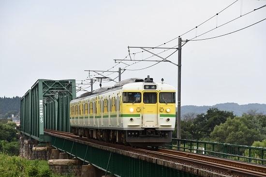 2019年9月21日撮影 信濃川分水橋梁と115系N38編成