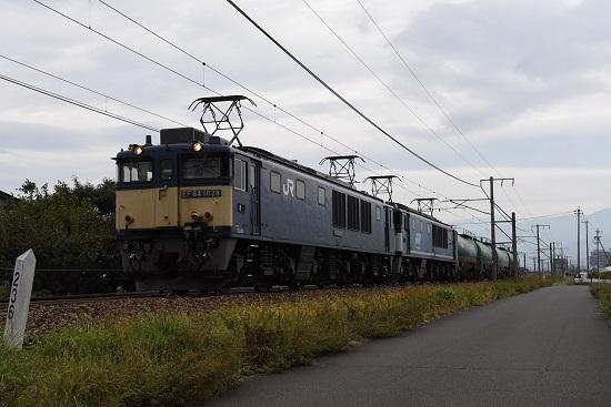 2019年10月3日撮影 西線貨物6088レ EF64-1028+1049号機