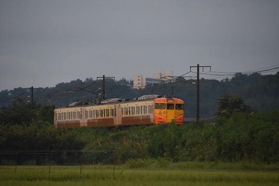8月10日 しなの鉄道 1310M 115系 S9編成 台湾特急色後撃ち