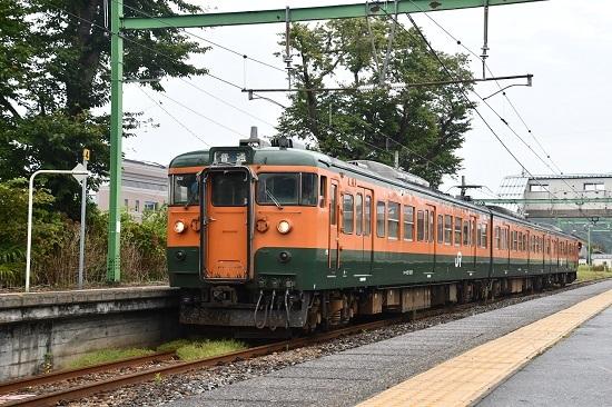 2019年9月21日撮影 157M 115系 N38編成湘南色