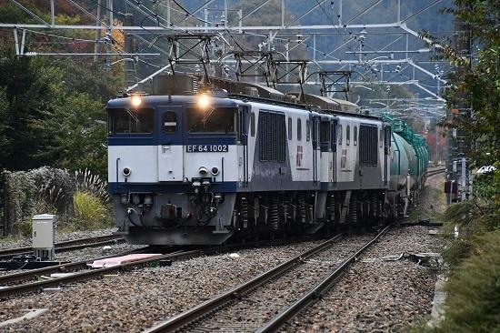 2019年10月24日撮影 西線貨物8883レ EF64-1020+1015号機