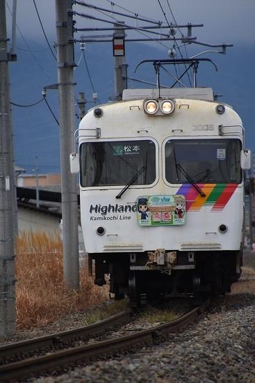 2020年1月2日撮影 アルピコ交通3000系 鉄道むすめ巡りHM