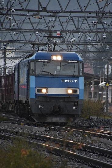 2019年10月29日撮影 東線貨物2083レ EH200-11号機を正面