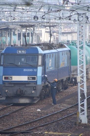 2020年1月3日撮影 南松本にて東線貨物2080レ 無線機渡し