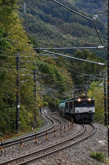 2019年10月26日撮影 西線貨物8883レ EF64-1046+1026号機