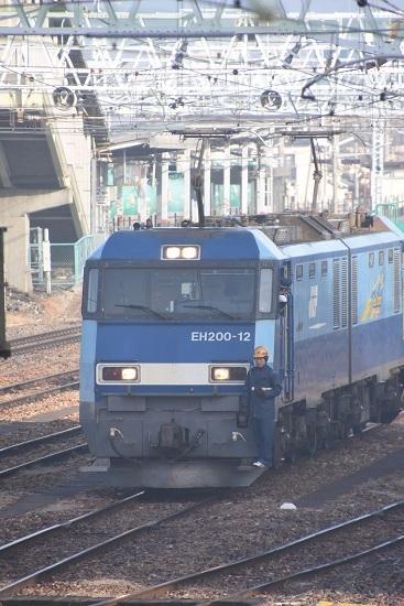 2020年1月3日撮影 南松本にて東線貨物2080レ 機回し発車