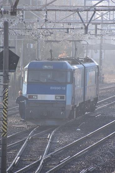 2020年1月3日撮影 南松本にて東線貨物2080レ機回し