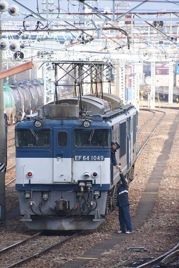 2020年1月3日撮影 南松本にて西線貨物8084レ メモ渡し その5