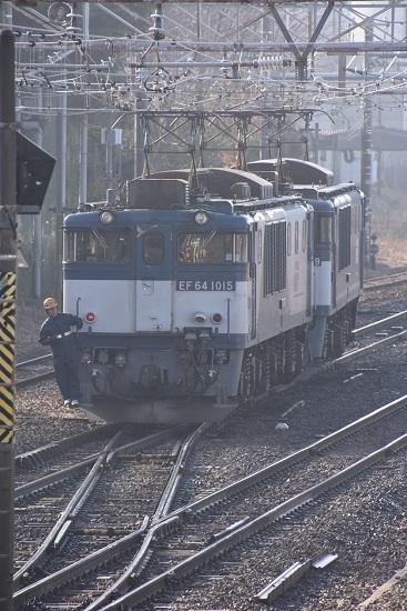 2020年1月3日撮影 南松本にて西線貨物8084レ 機回し 本線横断