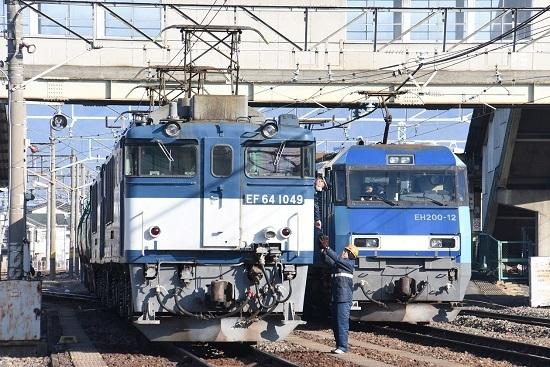 2020年1月3日撮影 南松本にて西線貨物8084レ機回し 無線機返却