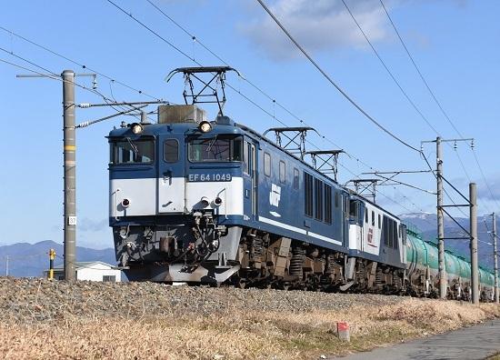 2020年1月3日撮影 西線貨物8084レ EF64-1049号機
