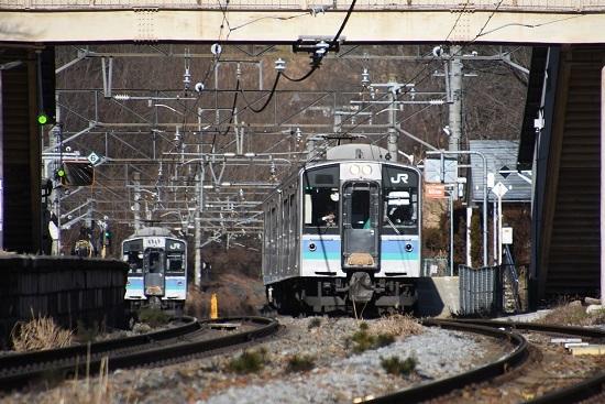 2020年1月3日撮影 冠着駅にて E127系同士の交換