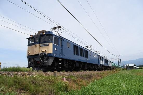 2019年8月12日 西線貨物8084レ EF64-1037+1011号機
