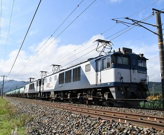 2019年10月27日撮影 西線貨物8883レ EF64-104+1003号機