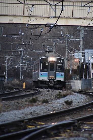 2020年1月3日撮影 冠着駅にてE127系