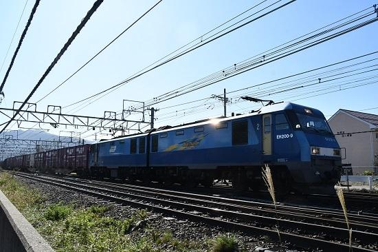 2019年10月28日撮影 東瀬貨物2083レ EH200-9号機きらりッ!