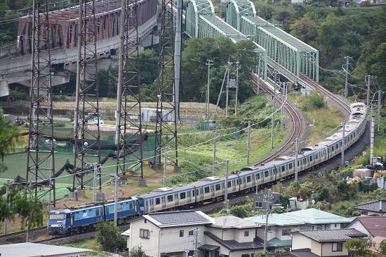 2019年10月4日撮影 EH200-15号機が牽く相鉄10000系甲種輸送