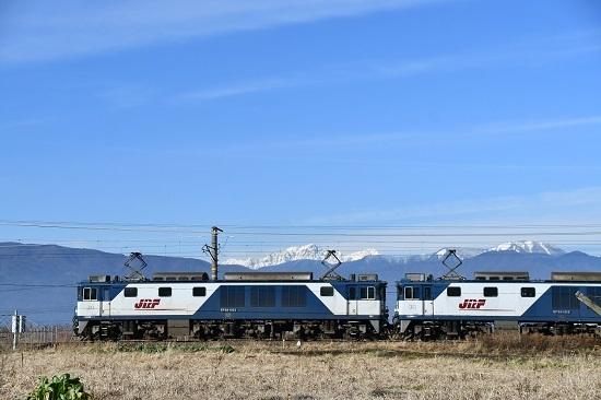2019年12月21日撮影 西線貨物8084レ 前穂高岳と更新色重連