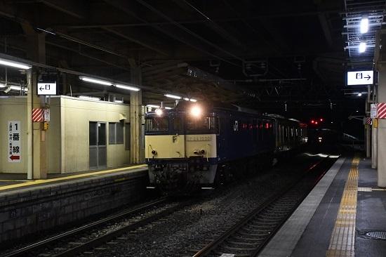 2019年9月26日 配9439レ EF64-1030号機 塩尻駅入線