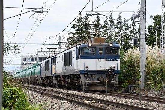 2019年9月28日撮影 西線貨物8084レ 広丘→塩尻