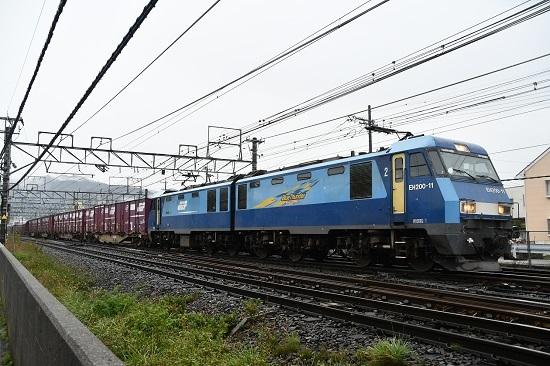 2019年10月29日撮影 東線貨物2083レ EH200-11号機塩尻駅先にて