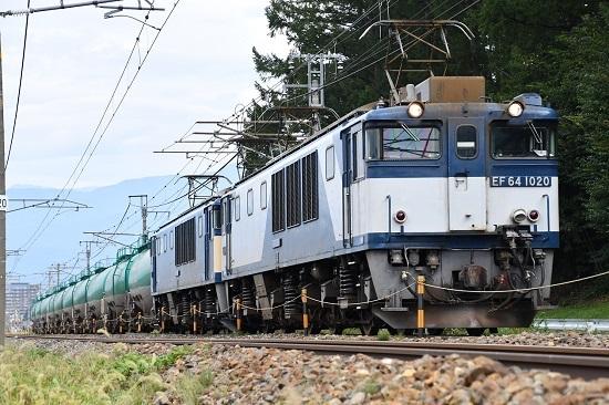 2019年9月28日撮影 西線貨物8084レ 塩尻→洗馬