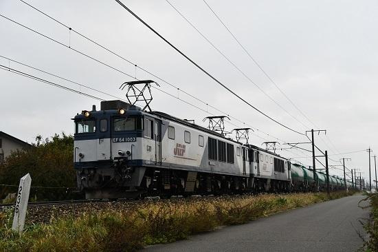 2019年10月31日撮影 西線貨物6088レ