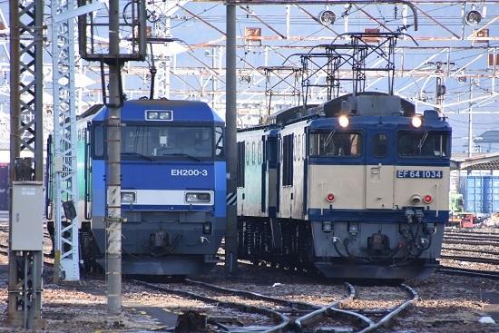 2020年1月11日撮影 南松本にて機回し前のEH200とEF64