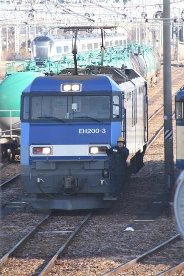 2020年1月11日撮影 南松本にてEH200とE353系あずさ