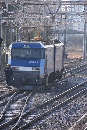 2020年1月11日撮影 南松本にてEH200-3号機 機回し中