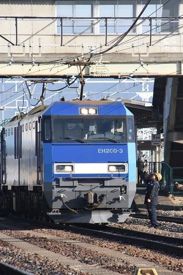 2020年1月11日撮影 南松本にて東線貨物2080レ 誘導員さんと運転士さん
