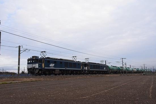 2020年1月18日撮影 西線貨物6088レ EF64広島更新色重連